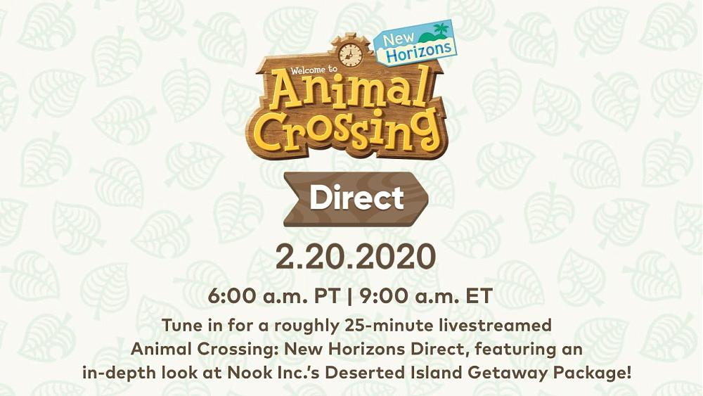 An Animal Crossing Direct is Scheduled for February 20