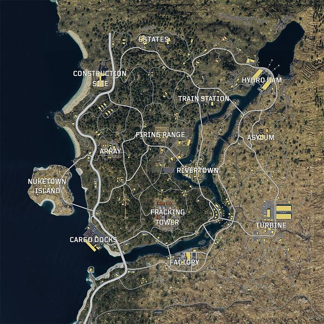 Call of Duty: Black Ops 4 Blackout map