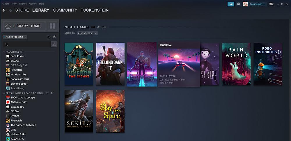 New Steam Library - library