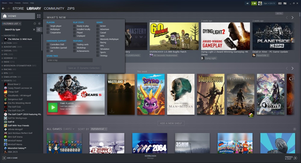 New Steam Library Beta is now Live - Total Gaming Network