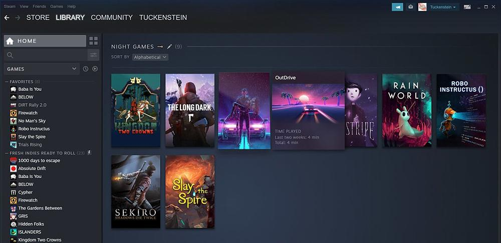 New Steam Library