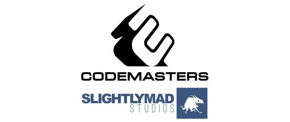 Codemasters and Slightly Mad Studios logos