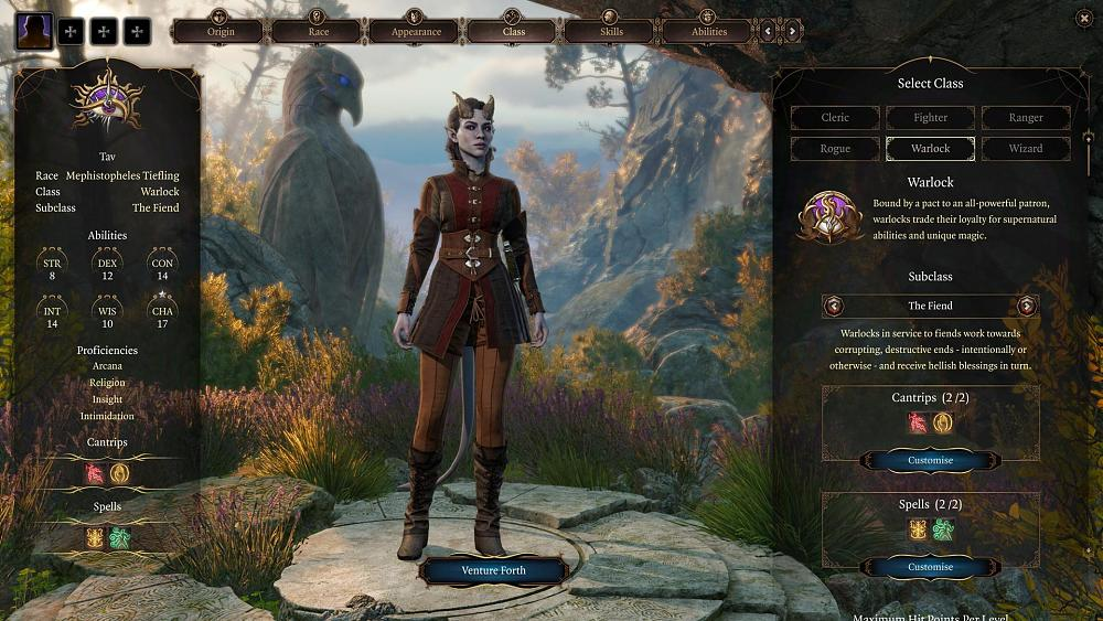 Baldur's Gate 3 character creation