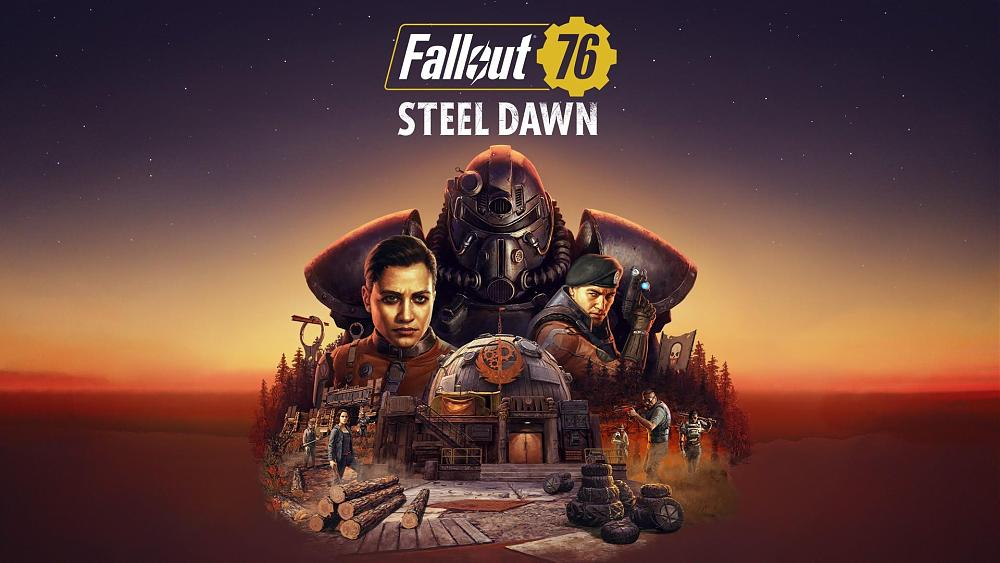 Fallout 76 Steel Dawn key art